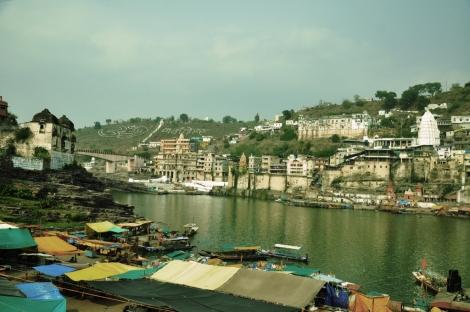 Omkar Mandhata seen from the Gomukh ghats